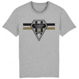 TEE SHIRT HOMME GRIS LOGO LINES
