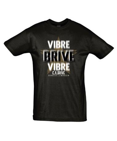 TEE SHIRT HOMME VIBRE BRIVE NOIR