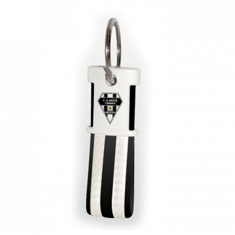 Porte-clé Blanc/Noir Blason
