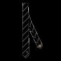 Cravate tissée Noir/Dorée