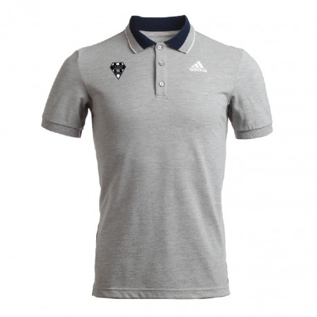 POLO HOMME MC ADIDAS-CABCL GRIS CHINE