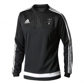 SWEAT HOMME POLYESTER ADIDAS-CABCL noir/blanc