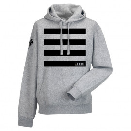 SWEAT HOMME CAPUCHE  CABCL A RAYURES - GRIS