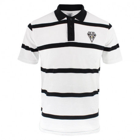 POLO MANCHES COURTES RAYE HOMME